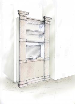 TV shelf column 119